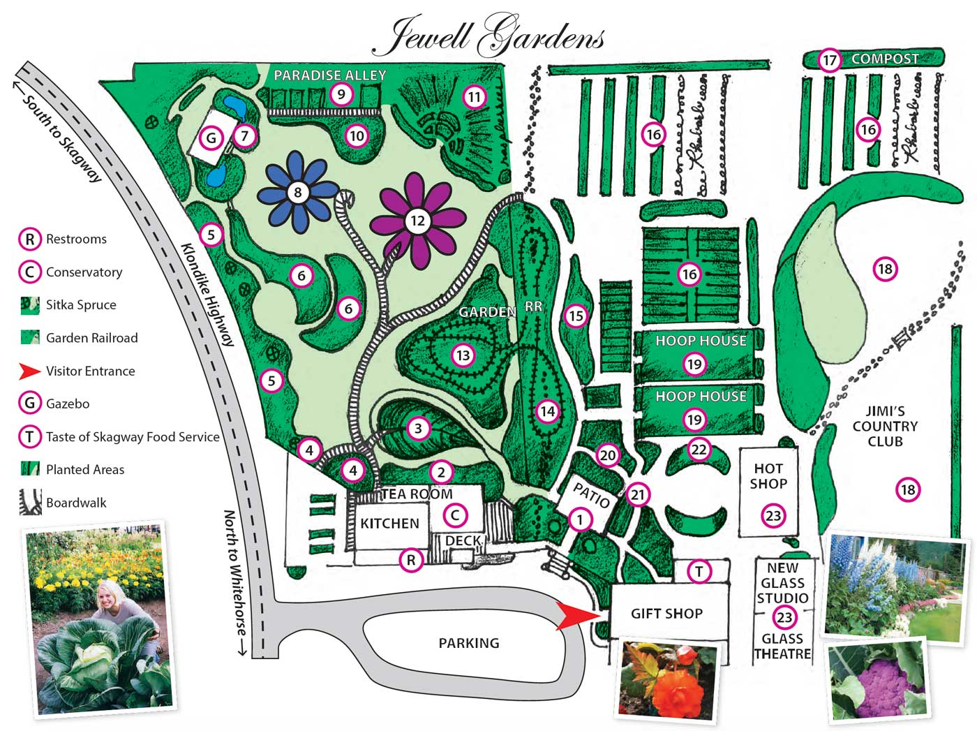 map of jewell gardens